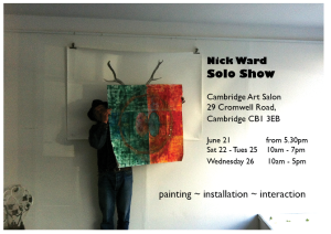 nick ward solo show