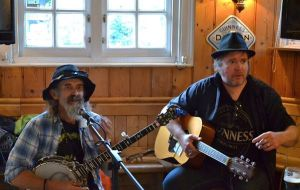 With Gene Thunderbolt at The Six Bells in Cambridge. We have been The Swamp Brothers since 2008.